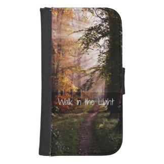 Walk in the Light Bible Verse Galaxy S4 Wallet Case