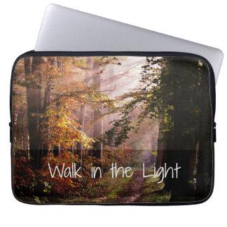 Walk in the Light Bible Verse Computer Sleeve