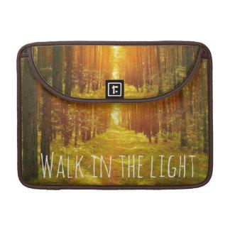Walk in the Light Bible Verse MacBook Pro Sleeve