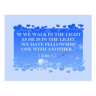 WALK IN THE LIGHT   Postcard