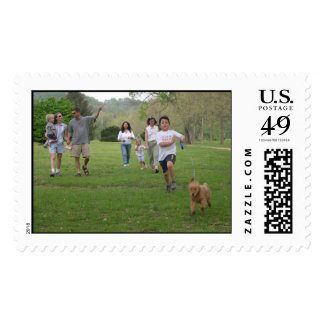 Walk in the Park with Friends Postage Stamp