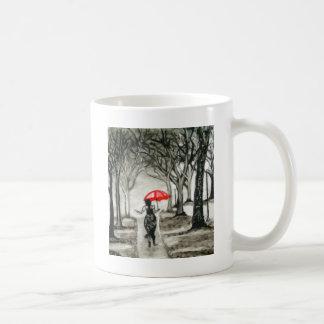 Walk in the rain coffee mug