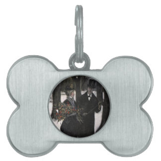 Walk in The Snow With Holly Pet ID Tag