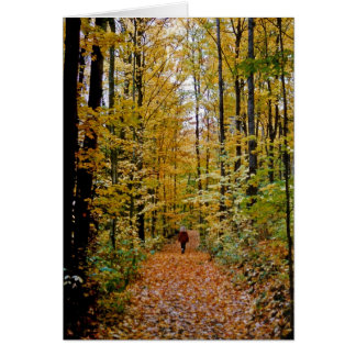 walk in the woods card