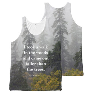 Walk in the Woods - Henry David Thoreau Quote All-Over Print Tank Top