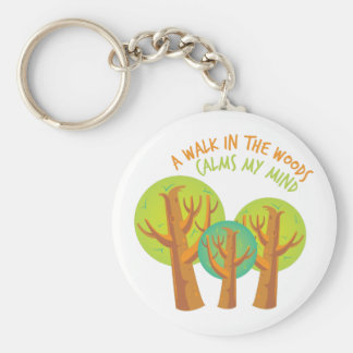 Walk In Woods Basic Round Button Keychain