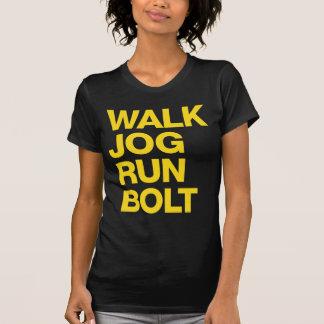 WALK JOG RUN BOLT Motivation Yellow T-Shirt