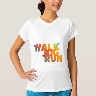 Walk Jog Run Connected Rainbow Type Light T-Shirt