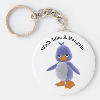 Walk Like A Penguin Keychain