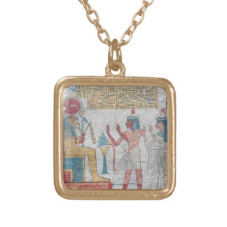 Walk Like an Egyptian brushed gold necklace