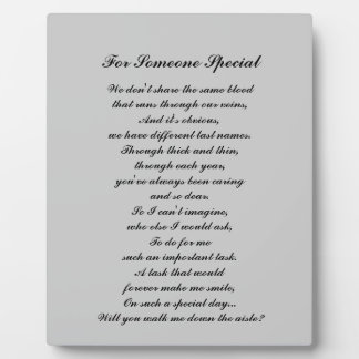 """Walk Me Down the Aisle?"" Plaque (for ""like a fath"