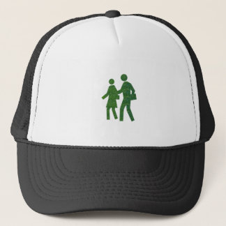 Walk n Talk GREEN Environment nvn40 navinJOSHI Trucker Hat
