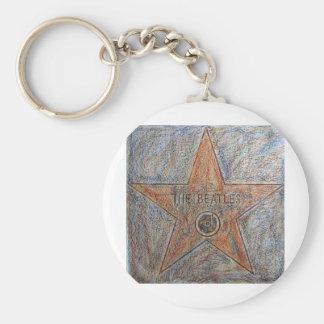 Walk of Fame Art Designed Merchandise Basic Round Button Keychain