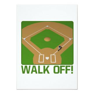 Walk Off 5x7 Paper Invitation Card