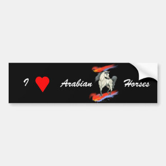 Walk on Fire Arabian Horse Bumper Sticker