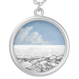 Walk on Ice - Ocean Ice Sterling Silver Necklace necklace