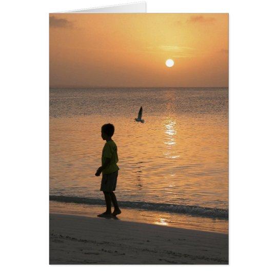 Walk on the Beach Card