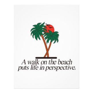 Walk on the Beach Letterhead