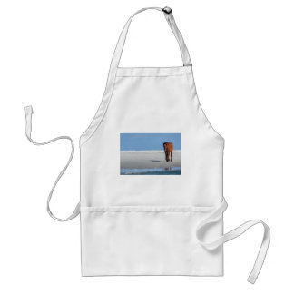 Walk on the Beach with a Wild Horse Adult Apron