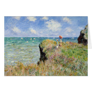 Walk on the Cliff at Pourville - Claude Monet Card