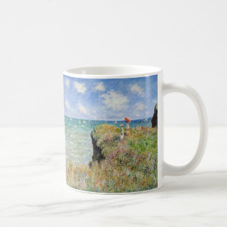 Walk on the Cliff at Pourville - Claude Monet Coffee Mug
