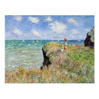 Walk on the Cliff at Pourville - Claude Monet Postcard