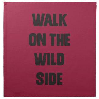 Walk on the wild side cloth napkin
