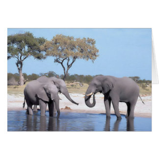 Walk on the Wild Side - Elephants Card