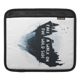 Walk on the wild side iPad sleeve