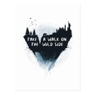 Walk on the wild side postcard