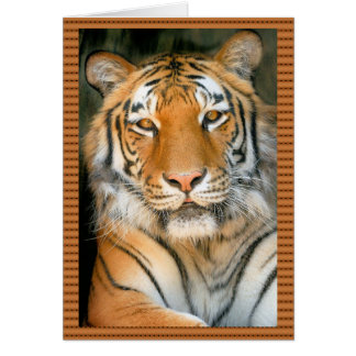 Walk on the Wild Side - Tiger Greeting Card