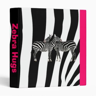 Walk on the Wild Side - Zebra Hugs Vinyl Binder