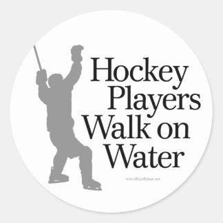 Walk On Water Classic Round Sticker