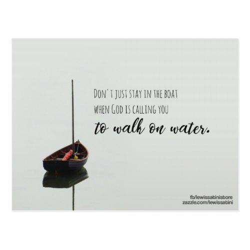 Walk on Water Postcard