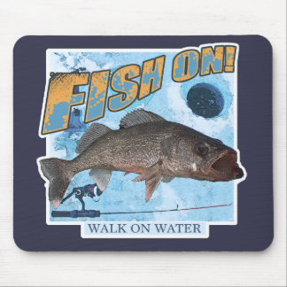 Walk on water walleye mouse pad