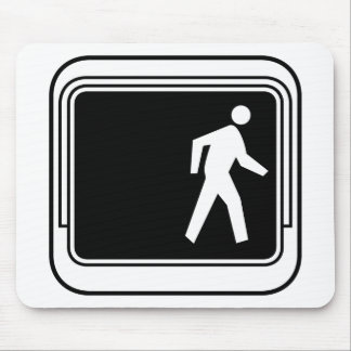 Walk Picture, Traffic Sign, USA Mouse Pad