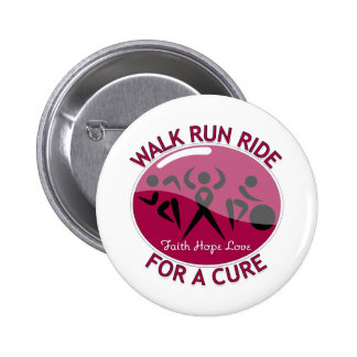 Walk Run Ride For A Cure Multiple Myeloma Pinback Button