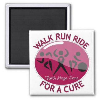 Walk Run Ride For A Cure Multiple Myeloma Fridge Magnet