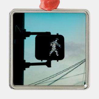 Walk Sign Metal Ornament