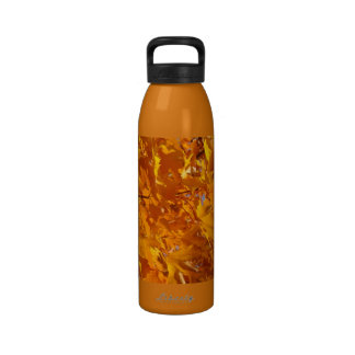 Walk Slowly and Bow Often Water Bottle Leaves