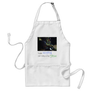 Walk Softly and Carry a Big Fish Adult Apron