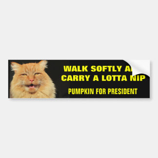 Walk Softly and Carry...Pumpkin for President Car Bumper Sticker