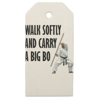 Walk Softly Bo Wooden Gift Tags