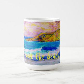 walk the beach coffee mug