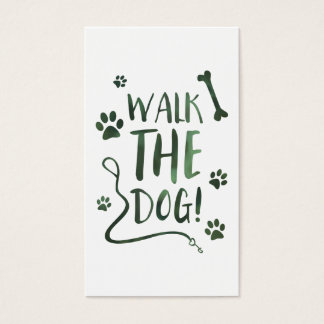 walk the dog business card