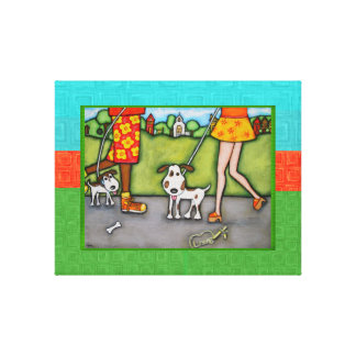 Walk The Dog Gallery Wrapped Canvas Print 1 of 2