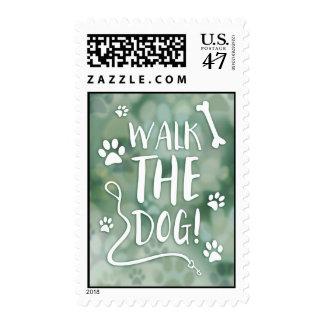 walk the dog postage stamp