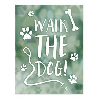 walk the dog postcard