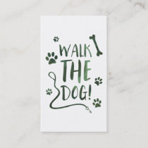 walk the dog punch card bokeh