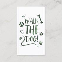 walk the dog punch card bokeh